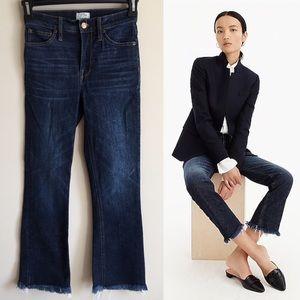 J CREW Billie Demi Boot Crop Jeans Raw Hem